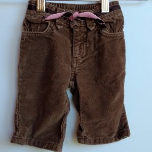 Old Navy Pants Size 3-6 Months Brown and Pink